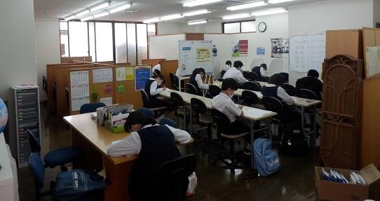 北辰テスト@Home6/21(日) 塾で行いました