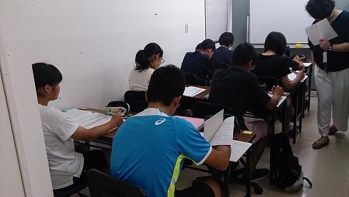 高校入試へ向けての少人数クラス夏期講習スタート