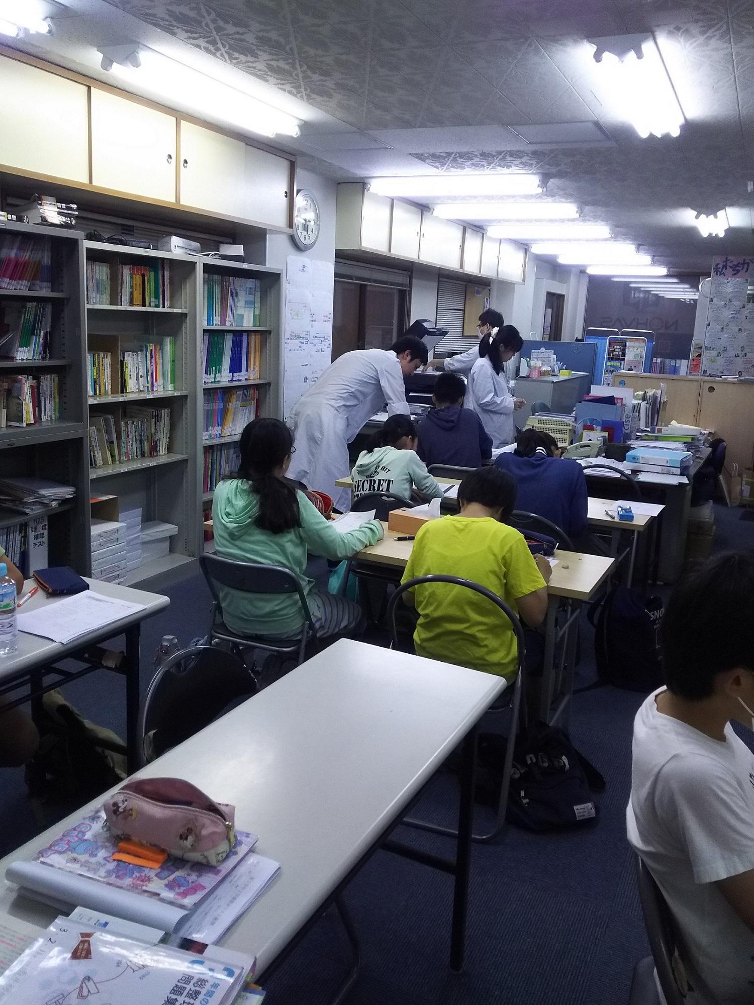本日自習室の様子画像