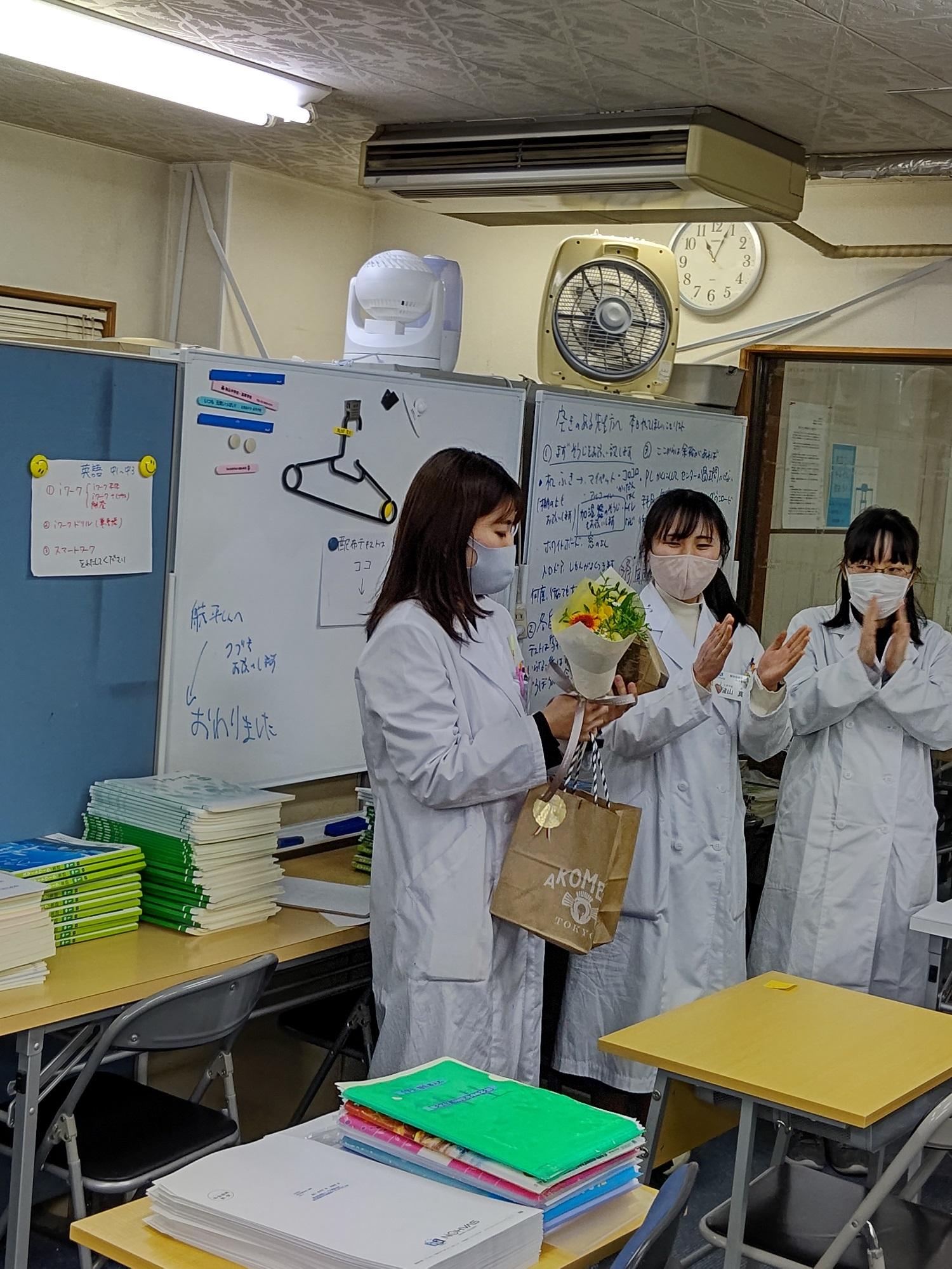 【N先生卒業おめでとう】